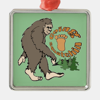 Going Squatchin Metal Ornament