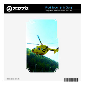 Going streight to success air rescue helicpter skins for iPod touch 4G