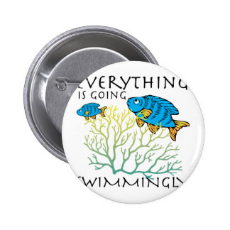 Going Swimmingly 2 Inch Round Button