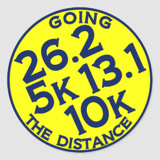 Going the Distance Classic Round Sticker