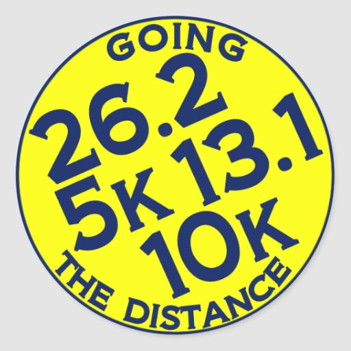Going the Distances Round Stickers