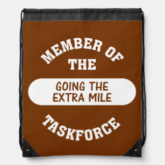 Going the Extra Mile Drawstring Backpack
