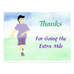 Going the Extra Mile Postcard