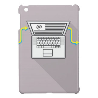 Going through emails on laptop iPad mini cases