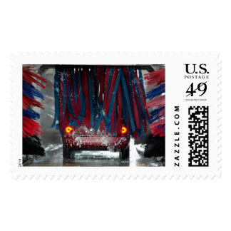 Going through the car wash postage