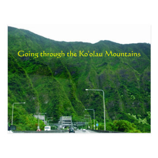 Going through the Ko'olau Mountains Postcard