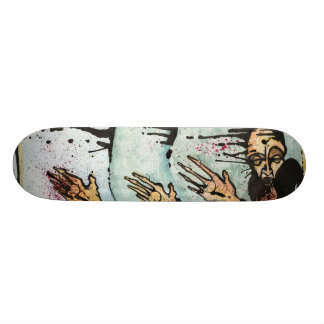 Going through the motions custom skate board