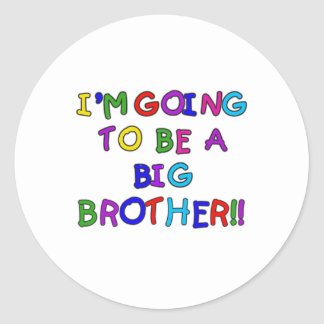 Going to be a Big Brother Classic Round Sticker