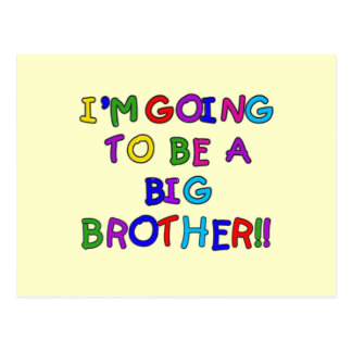 Going to be a Big Brother Tshirts and Gifts Postcard