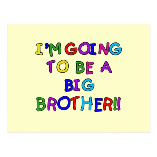 Going to be a Big Brother Tshirts and Gifts Postcards