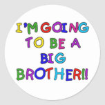 Going to be a Big Brother Tshirts and Gifts Round Sticker