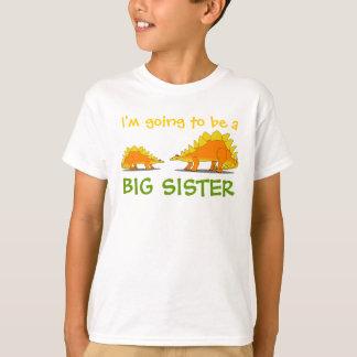 Going to Be a Big Sister Cute Stegosaurus Dinosaur T-Shirt
