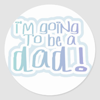 Going to be a Dad Tshirts and Gifts Classic Round Sticker
