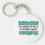 Going to be a Grandpa Again! Basic Round Button Keychain