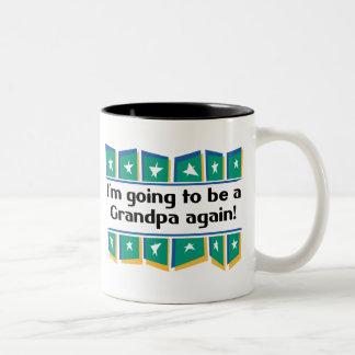 Going to be a Grandpa Again! Two-Tone Coffee Mug
