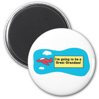 Going to be a Great Grandma! 2 Inch Round Magnet