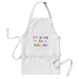 Going to be a Nana - Primary Colors Tshirts Adult Apron