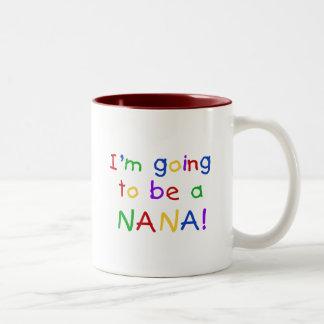 Going to be a Nana - Primary Colors Tshirts Two-Tone Coffee Mug
