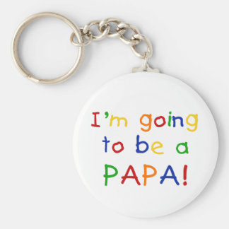 Going to be a Papa - Primary Colors Keychain