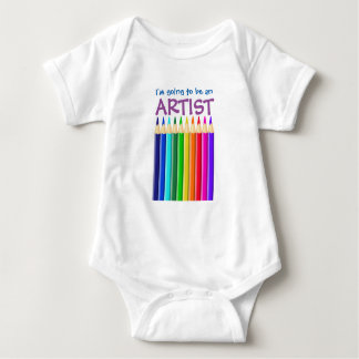 Going to be an Artist: Coloured Crayon or Pencil Baby Bodysuit