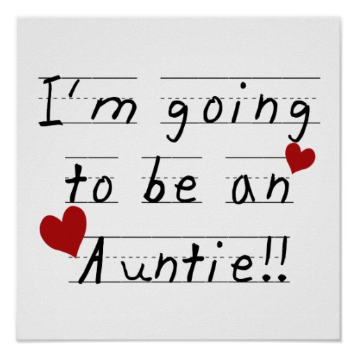 Going To Be An Auntie Kid Print Tshirts and Gifts
