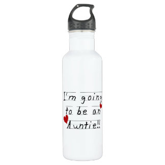 Going To Be An Auntie Kid Print Tshirts and Stainless Steel Water Bottle