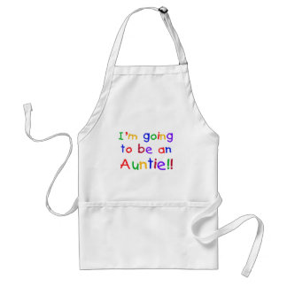 Going to be an Auntie Primary Colors Adult Apron