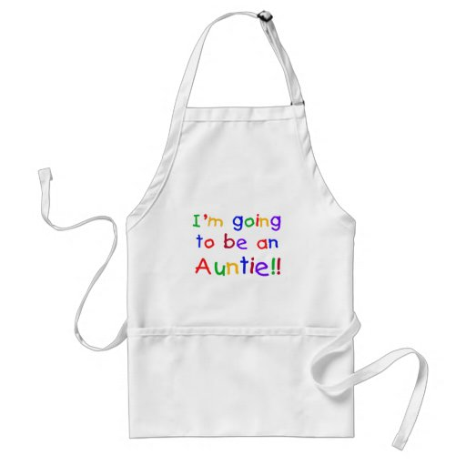 Going to be an Auntie Primary Colors Apron