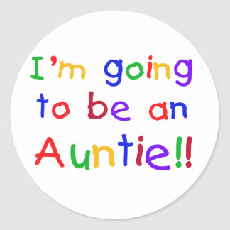 Going to be an Auntie Primary Colors Classic Round Sticker