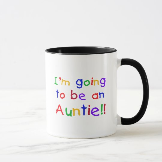 Going to be an Auntie Primary Colors Mug