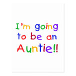 Going to be an Auntie Primary Colors Postcard