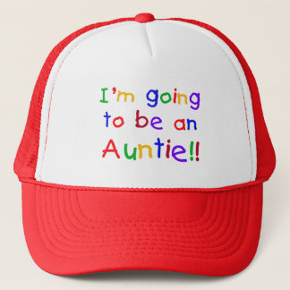 Going to be an Auntie Primary Colors Trucker Hat