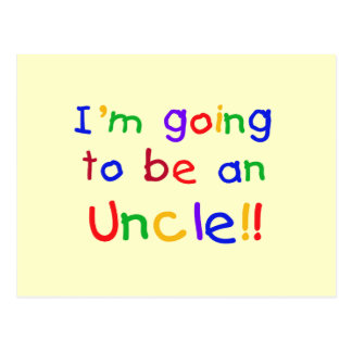 Going to be an Uncle Primary Colors Text Postcard