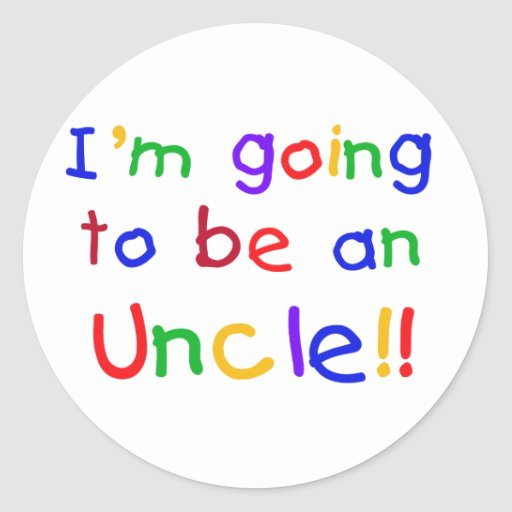 Going to be an Uncle Primary Colors Text Stickers
