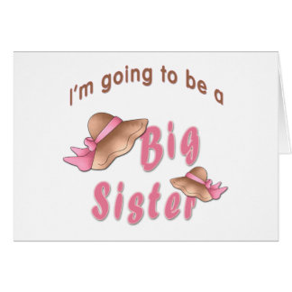 Going To Be Big Sister Brown Bonnets Card