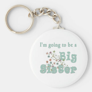 Going To Be Big Sister Flowers Keychain
