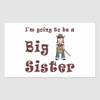 Going To Be Big Sister Stick Horse Rectangular Sticker