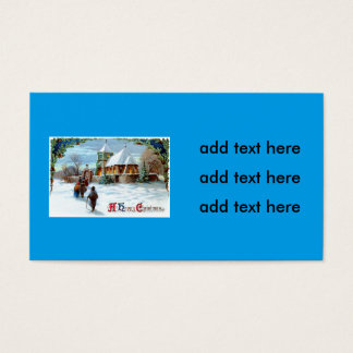 Going To Church Evergreen Christmas Tree Business Card