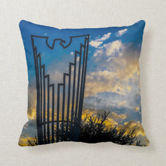 Going to fly and shine throw pillow