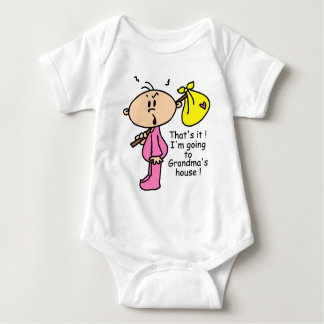 Going To Grandma's House Baby (Pink) Baby Bodysuit