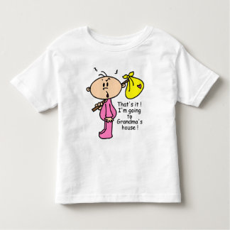 Going To Grandma's House Baby (Pink) Toddler T-shirt