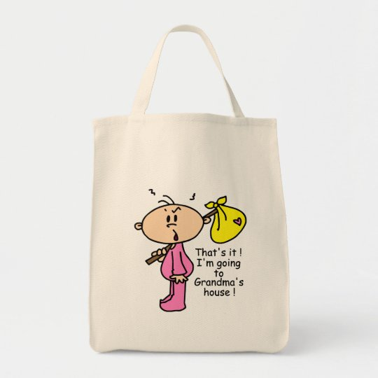 Going To Grandma's House Baby (Pink) Tote Bag