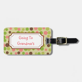 Going To Grandma's Pink  Luggage Tag