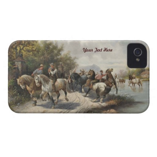 Going to Horse Fair - Barely There - Personalize iPhone 4 Case-Mate Cases