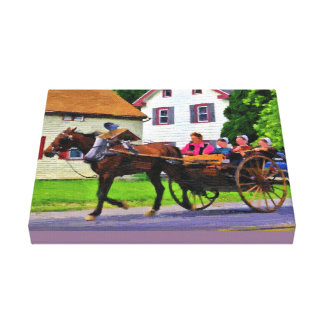 Going to Market Canvas Print