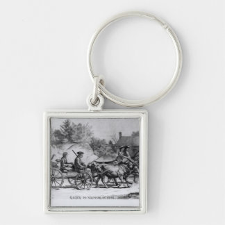 Going to Meeting in 1776, 1876 Keychain