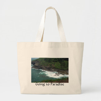 Going to Paradise Large Tote Bag