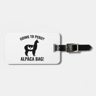 Going To Peru? Bag Tag