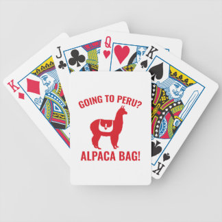 Going To Peru? Bicycle Playing Cards