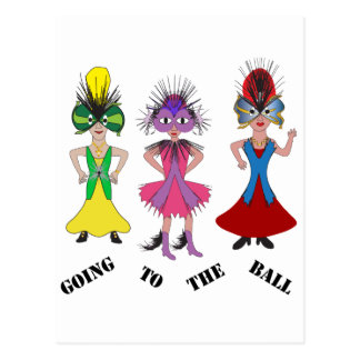 Going to the Ball Postcard